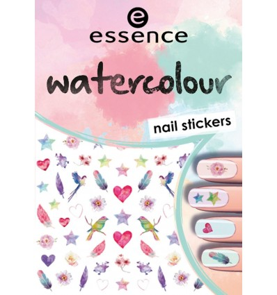 essence watercolour nail stickers 1pcs